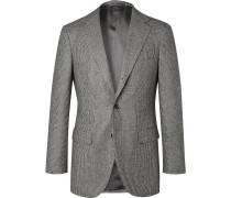 Grey Slim-Fit Prince of Wales Checked Super 100s Wool Suit Jacket