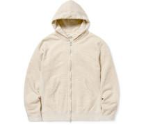Dweller Mélange Loopback Cotton-Jersey Zip-Up Hoodie