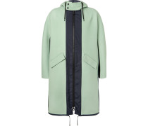 Shell-panelled Wool And Cashmere-blend Fishtail Parka