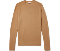 Slim-fit Textured-knit Wool-blend Sweater