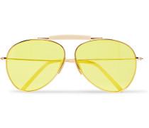 Howard Aviator-style Gold-tone And Acetate Sunglasses