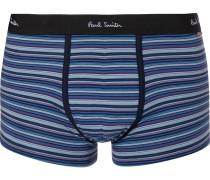 Striped Stretch-cotton Boxer Briefs