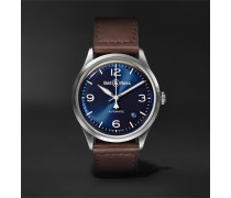 BR V1-92 Automatic 38.5mm Steel and Leather Watch