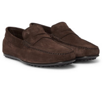 Gommino Suede Driving Shoes - Brown