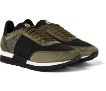 Horace Suede And Felt Sneakers
