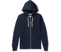 Loopback Cotton-Jersey Zip-Up Hoodie
