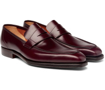 George Leather Penny Loafers - Burgundy