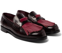 Runway Polished-leather Kiltie Loafers