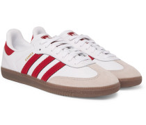 Samba Og Suede-trimmed Leather Sneakers