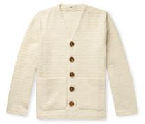 Striped Cotton-Blend Cardigan