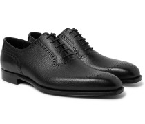 Anthony Pebble-Grain Leather Oxford Brogues