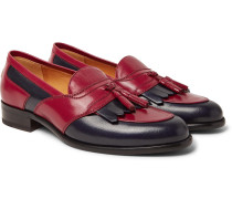 Curtis Two-tone Leather Tasselled Kiltie Loafers