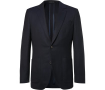 Navy Spirit Slim-Fit Wool-Hopsack Blazer