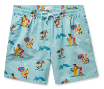 Block Party Printed Swim Shorts