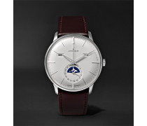 Meister Kalender 40mm Stainless Steel and Leather Watch, Ref. No. 027/4200.01