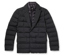 Slim-Fit Quilted Stretch-Shell Down Jacket