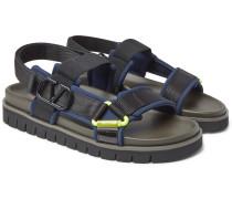 Valentino Garavani Neoprene And Webbing Sandals - Navy