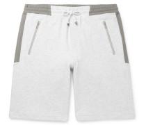 Mélange Cotton-Blend Jersey Drawstring Shorts