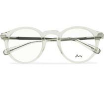 Round-Frame Acetate and Silver-Tone Optical Glasses