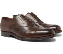 Lucas Cap-toe Leather Oxford Shoes - Brown