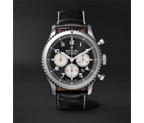 Navitimer 8 B01 Automatic Chronograph 43mm Stainless Steel, Mother-of-Pearl and Alligator Watch, Ref. No. AB0117131B1P1