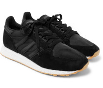 Forest Grove Suede And Mesh Sneakers - Black