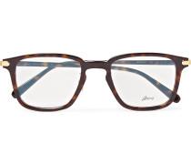 Square-Frame Tortoiseshell Acetate Optical Glasses