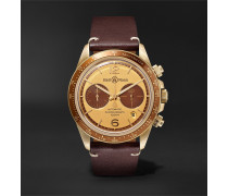 + Revolution Bellytanker Automatic Chronograph 41mm Stainless Steel and Leather Watch, Ref. No. BRV294-RR-BR/SCA