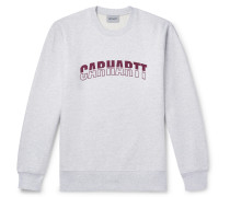 District Logo-Print Mélange Fleece-Back Cotton-Blend Jersey Sweatshirt