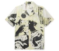 + Alfie Kungu Camp-Collar Printed Linen and Cotton-Blend Shirt