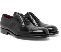 Walbrook Cap-toe Leather Oxford Brogues - Black