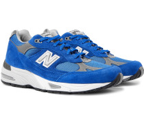 991 Suede, Mesh and Leather Sneakers