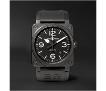 Automatic 42mm Ceramic and Rubber Watch, Ref. No. BR0392‐BL‐CE