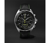 Formula 1 Limited Edition Aston Martin Quartz Chronograph 43mm Stainless Steel and Leather Watch, Ref. No. CAZ101P.FC8245