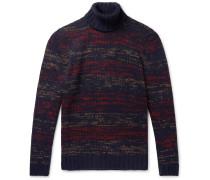 Frankie Mélange Merino Wool-Blend Rollneck Sweater