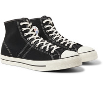 Lucky Star Canvas High-top Sneakers - Black
