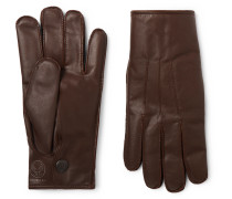 Officer's Cashmere-Lined Leather Gloves