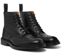 Stow Full-Grain Leather Brogue Boots