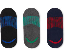 Three-Pack Soller Stretch-Cotton Blend No-Show Socks