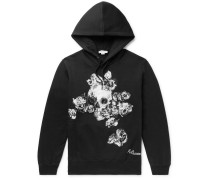 Embroidered Fleece-Back Cotton-Jersey Hoodie