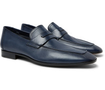 Lorenzo Leather Loafers - Navy