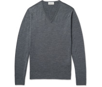 Blenheim Mélange Merino Wool Sweater - Charcoal