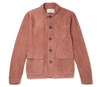 Slim-fit Suede Shirt Jacket
