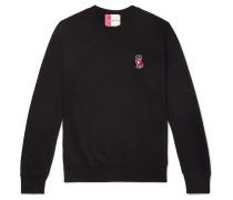 Logo-appliquéd Loopback Cotton-jersey Sweatshirt - Black