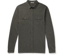 Garment-dyed Cotton-piqué Shirt - Army green