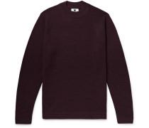 Duncan Textured Wool-blend Sweater - Burgundy