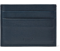 Textured-leather Cardholder - Navy
