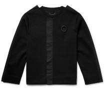 Poplin-trimmed Stretch-jersey Sweatshirt - Black
