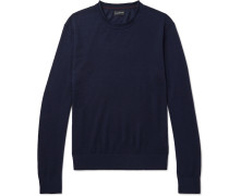 Slim-fit Merino Wool, Silk And Cashmere-blend Sweater
