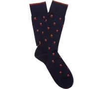Owl Intarsia Pima Cotton-blend Socks